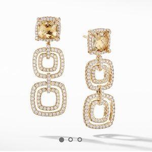 David Yurman 18k gold  Châtelaine drop Earrings